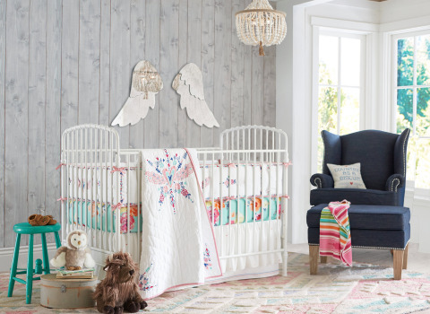 Nursery from the Junk Gypsy for Pottery Barn Kids collection, debuting today online and at select Pottery Barn Kids stores. (Photo: Business Wire)