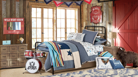 Bedroom from the Junk Gypsy for Pottery Barn Kids collection, debuting today online and at select Pottery Barn Kids stores. (Photo: Business Wire)