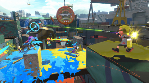 Turf War, which finds two teams of four battling to ink the most turf, makes its grand return in Splatoon 2. There are all kinds of different stages in the game, ranging from city streets, a sports club, an academy and even a BMX track. (Photo: Business Wire)