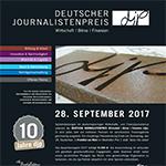 Einladungsflyer zur djp-Preisverleihung am 28. September 2017 in Frankfurt am Main (Dokument: Business Wire)