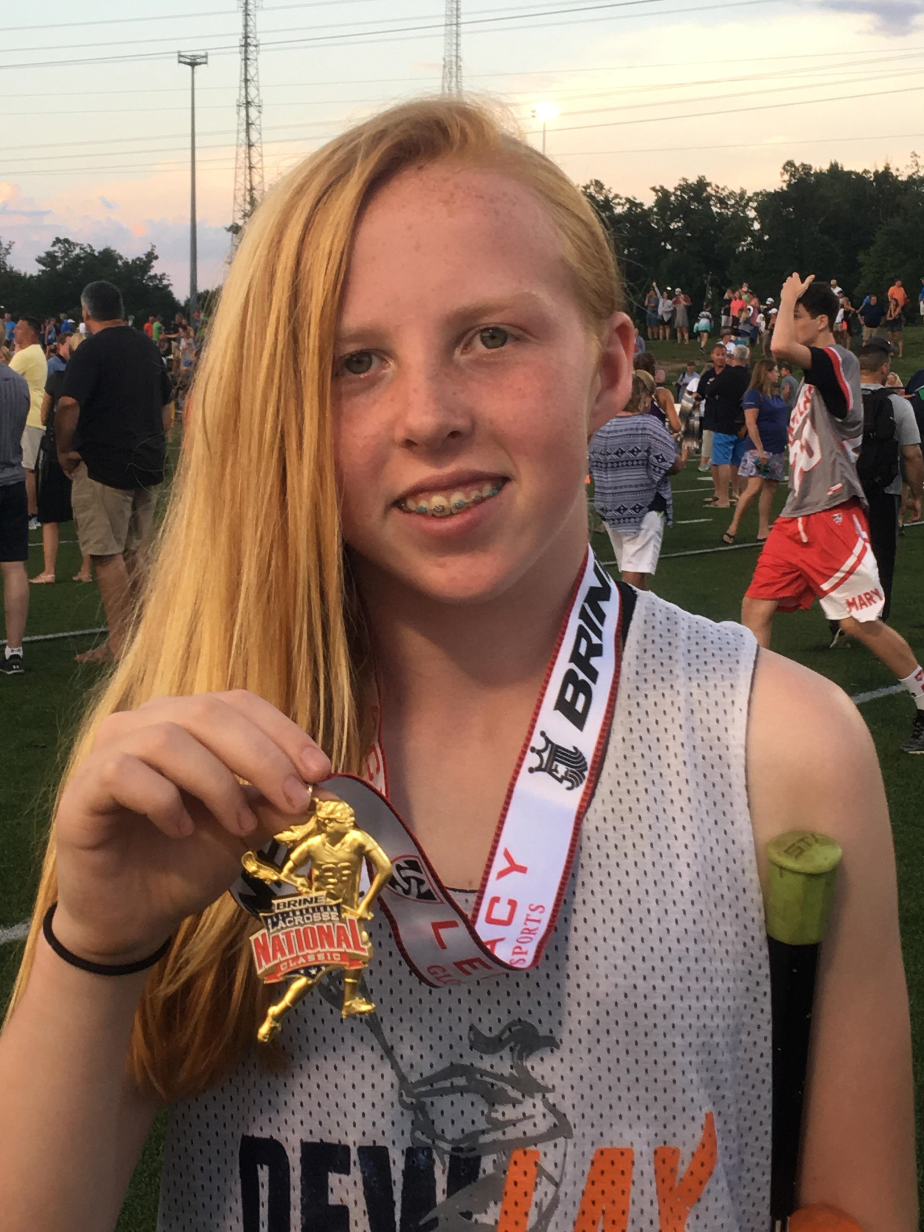 New Jersey Middle School Student, Patricia Columbia-Walsh Selected as All-Star Player to represent State of New Jersey for National Lacrosse Academy and National Lacrosse Classic 2017 (Photo: Business Wire)