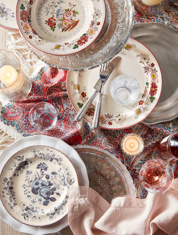 Vintage Floral Dinnerware, Pottery Barn (Photo: Business Wire)