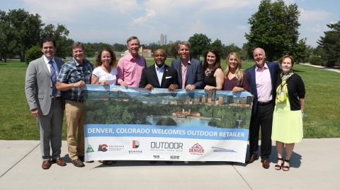 Colorado civic leaders and members of the outdoor recreation industry announced that Denver will be the host city for the Outdoor Retailer Show starting in 2018. (Photo: Business Wire)