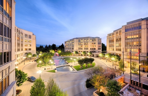 University Circle in Palo Alto, California, is one of three properties contributed to a joint venture announced today between Columbia Property Trust and Allianz Real Estate. (Photo: Business Wire)