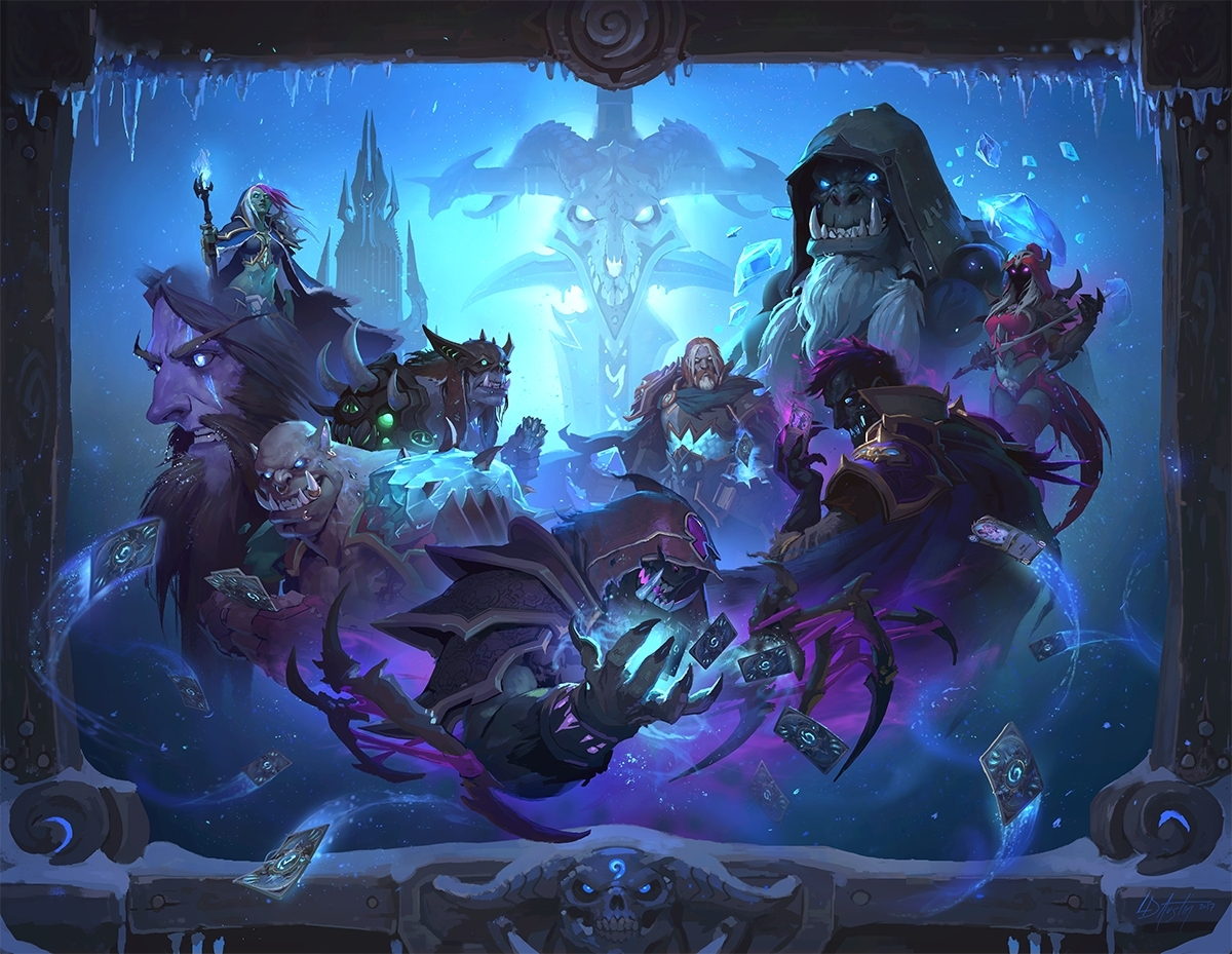 Embrace powers from beyond the grave in Knights of the Frozen Throne™, the upcoming expansion for Hearthstone®, Blizzard Entertainment's smash-hit digital card game. (Graphic: Business Wire)