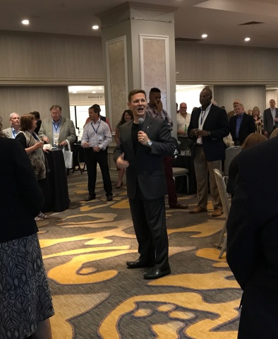 LegalShield CEO Jeff Bell addresses lawyers from across North America at the Elevate Law Conference in San Diego, California (Photo: Business Wire)