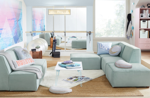 Lounge space from the ivivva for PBteen collection debuting today. (Photo: Business Wire)