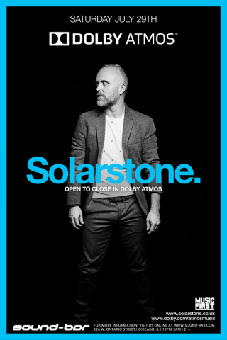 Solarstone - producer, composer and DJ, Richard Mowatt, kicks off Dolby Atmos music experience at Sound-Bar in Chicago, taking you inside the music (Photo: Business Wire)