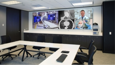 Stryker's state-of-the-art Training and Service center in Houston powered by Cyviz Easy. (Photo: Bus ...
