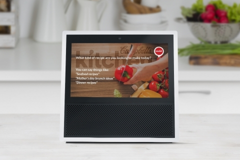 Updated Campbell's Kitchen skill uses visual and voice technology to allow users to hear, see and interact with recipes as they prepare a meal. (Photo: Business Wire)