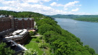 Aerial view of The Historic Thayer Hotel at West Point on the banks of the Hudson River. (Photo: Business Wire)