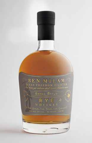 Ben Milam Rye Whiskey (Photo: Business Wire)