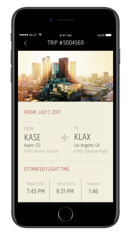 The new Flexjet App for iPhone elevates the fractional aircraft ownership experience, and brings the world-class Flexjet standard of service to smartphone. (Photo: Business Wire)