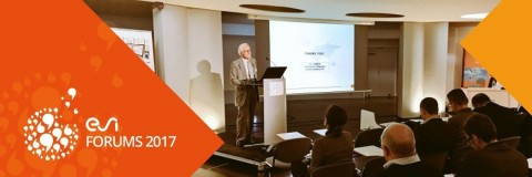 Alain de Rouvray, co-founder, chairman and CEO of ESI Group, presenting the company's vision at the ESI France Forum 2016 last year in Versailles.