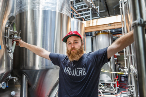 Head Brewer Nick Crandall will lead brewing operations at Redhook Brewlab. (Photo: Business Wire)