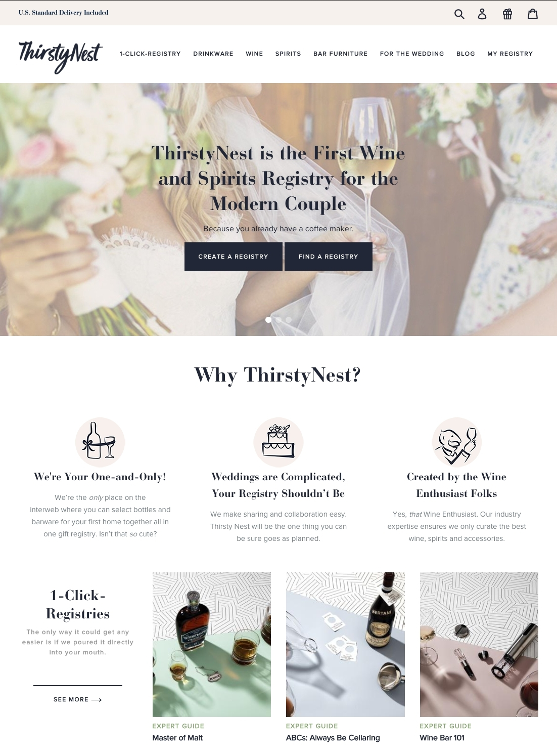 Thirstynest The First Wine Spirits Wedding Registry Launches