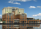 An exterior view from the shores of Lake Washington of the new Hyatt Regency Lake Washington at Seattle's Southport. (Photo: Business Wire)