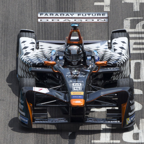 The Mouser Electronics-sponsored Dragon Racing team will take to the streets of Brooklyn in the New York City ePrix on July 15 and 16. Mouser is a proud sponsor of the 2016-2017 Dragon Racing all-electric car team in collaboration with TTI, Inc. and valued supplier team members Molex and Panasonic. (Photo: Business Wire)