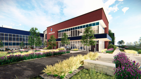 Emerson will break ground in July on a major renovation and expansion of its one-million-square-foot facility in Sidney, Ohio. (Photo: Business Wire)
