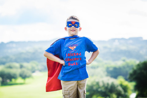 Leading the Superhero Fun Run will be 7-year-old cancer survivor and Wish Kid, Super Kooper (Hernandez). Since beating cancer, Super Kooper and his family have made it their mission to give back and help families with kids fighting cancer. (Photo: Business Wire)