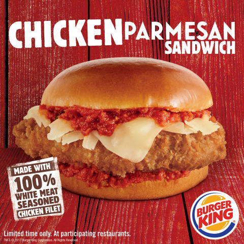 Mamma Mia! BURGER KING® Restaurants Introduce the Chicken Parmesan Sandwich (Photo: Business Wire)