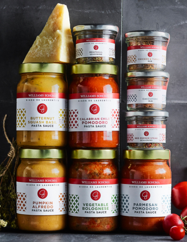 Giada's Collection of premium pasta sauces, seasonings and rubs will be available at all Williams Sonoma retail locations in the U.S. and at williams-sonoma.com. Prices range from $9.95-$12.95. (Photo: Business Wire)