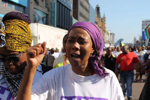 Prudence Mabele at the Code Red March for access to treatment in Durban 2016. (Photo: Business Wire)