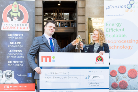 Dr Brian Miller and Dr Monika Tomecka celebrating their prize (Photo: Business Wire).