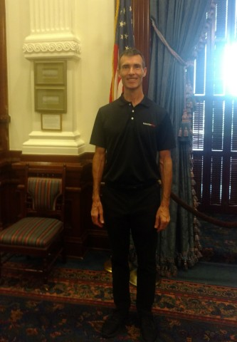SubscriberWise founder and America's child identity guardian David Howe at Texas State Capitol (Phot ...