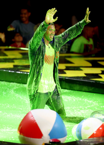 Host Russell Wilson at Nickelodeon's Kids' Choice Sports 2017