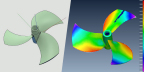 A three-dimensional surface scan creates a digital inspection report with a detailed color map for a direct CAD (left) to 3D scan (right) comparison to identify dimensional variances on parts. (Photo: Proto Labs)