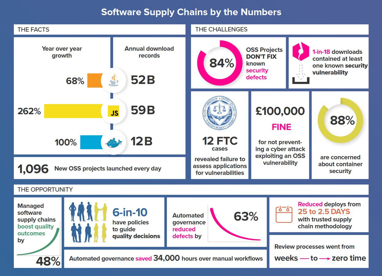 Software Supply Chains by the Numbers (Graphic: Business Wire)