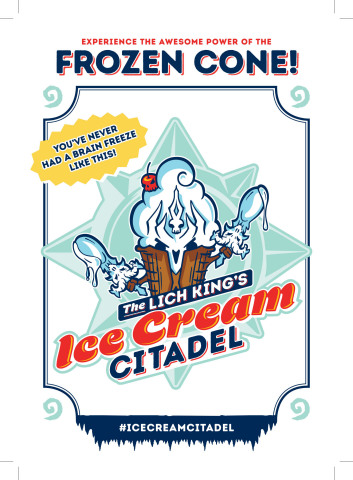 Join Blizzard Entertainment and the Lich King to celebrate Knights of the Frozen Throne, Hearthstone's upcoming expansion, with free ice cream at San Diego Comic-Con! (Graphic: Business Wire)