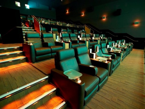 Cinépolis Luxury Cinema at Kentlands Market Square will feature fully-reclining leather seats, shown here at the brand's Rancho Santa Margarita location.