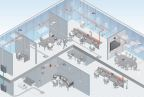 By pre-cabling an office space with consolidation points, architects have the flexibility to easily connect any system or device in each zone. CommScope will present about building connectivity solutions during the August workshops. (Graphic: Business Wire)