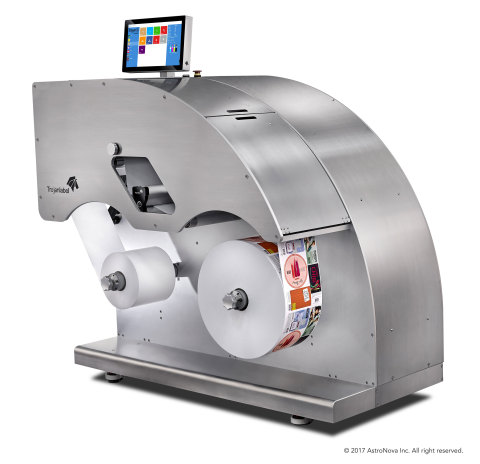 AstroNova's TrojanLabel ApS business unit and Nilpeter A/S have established an international distribution agreement for the Trojan2 mini digital label press. The Trojan2 will be marketed and distributed through Nilpeter's subsidiaries in the United States, Brazil, the Asia-Pacific, the United Kingdom and Ireland. (Photo: Business Wire)