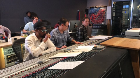 RZA in the studio working on SAVOR.WAVS (Photo: Business Wire)