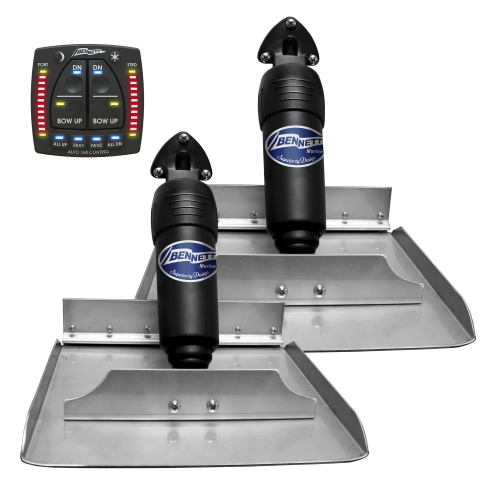 Bennett Marine's new AutoTrim Pro (ATP) automatically and actively levels the pitch and roll of most boats with trim tab systems at an affordable price point. (Photo: Business Wire)