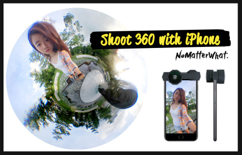 Shoot 360 with your iPhone, not a 360 camera.