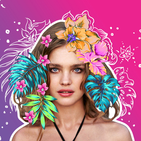 Follow Natalia Vodianova @natasupernova on PicsArt for inspiration, free stickers and editing challenges. (Photo: Business Wire)