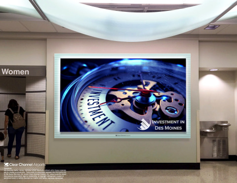 Digital video walls are part of Clear Channel Airports' advanced advertising solutions offered to br ...