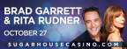 Brad Garrett and Rita Rudner will perform their comedy at the SugarHouse Casino Event Center on Friday, October 27 at 9 p.m. (Graphic: Business Wire)