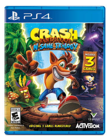 Crash Bandicoot™ N. Sane Trilogy brings back the iconic character for PS4 and PS4 Pro. (Graphic: Business Wire)