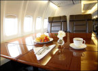 Hillwood Airways offers superior, luxury domestic and international travel options to high-end corporate clients, sports teams, governments, entertainment and other special interest groups using its Boeing 737-700C airliner. (Photo: Business Wire)