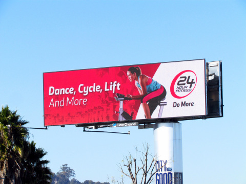 24 Hour Fitness launched their campaign on Clear Channel Outdoor's printed and digital billboards in ...