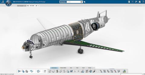 The 3DEXPERIENCE platform for aerospace (Photo: Dassault Systèmes)