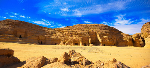 Temples and stone monuments in Mada'en Saleh. Some temples are for general use and others for special worship and many of them were built around Mount Athlib to the north east of Mada'en Saleh (webpage) / SaudiTourism.sa (Photo: ME NewsWire)
