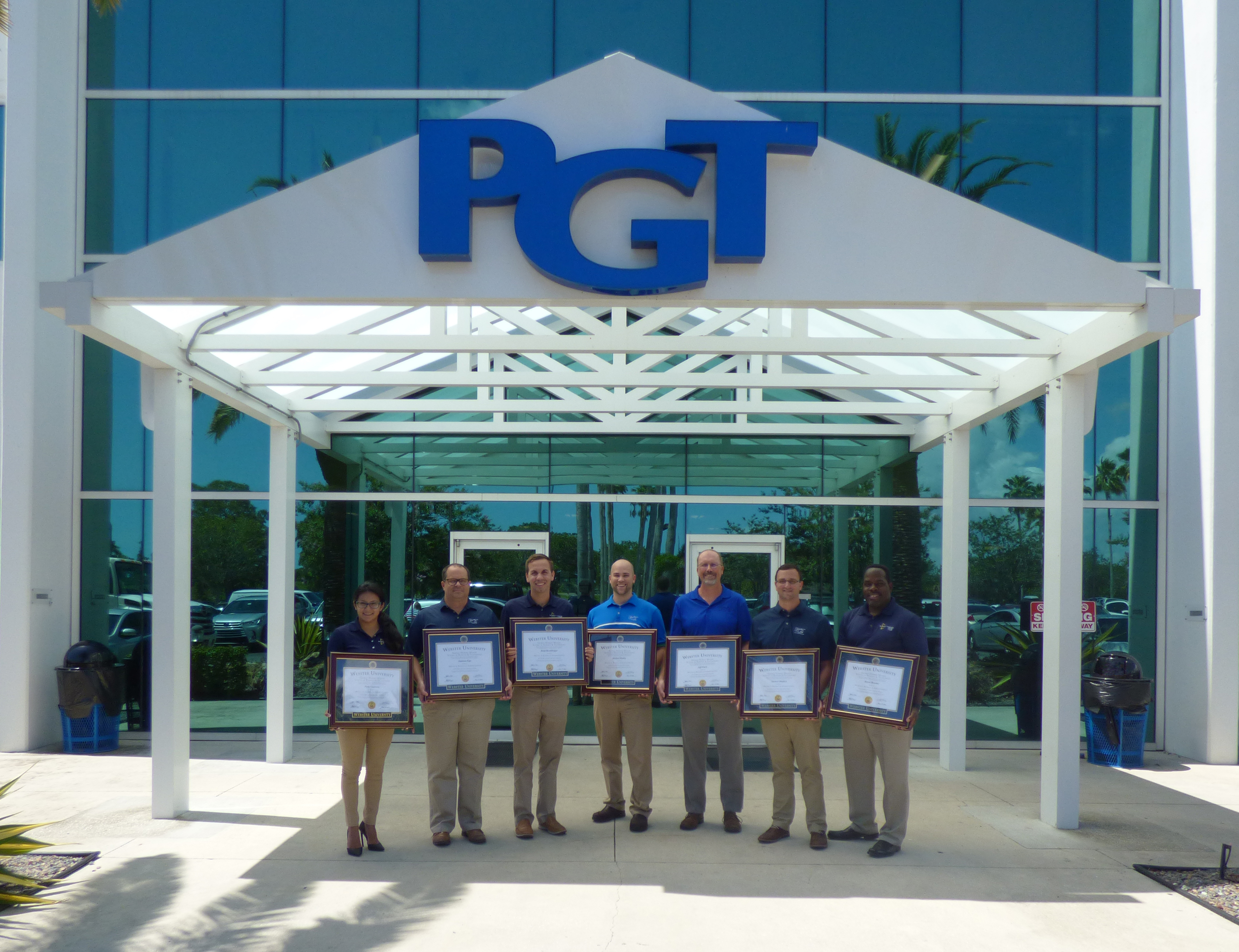 7 PGT® Custom Windows + Doors Employees Graduate From Webster University  With MBAs | Business Wire