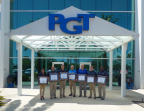 PGT Custom Windows + Doors employees proudly display their Webster University MBA diplomas outside the company's headquarters. (Photo: Business Wire)