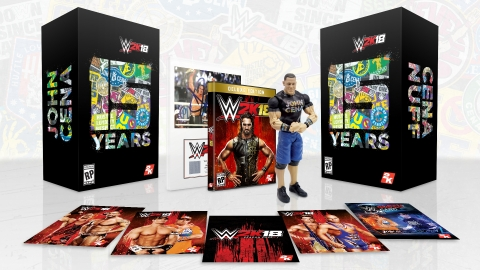 2K today announced plans for the Cena (Nuff) Edition of WWE® 2K18, the forthcoming release in the flagship WWE video game franchise. Packed with an impressive collection of exclusive memorabilia and digital content, the offering will celebrate the 15-year career of WWE Superstar John Cena® while paying homage to his distinct position as WWE's most frequently cheered – and frequently booed – personality. (Photo: Business Wire)